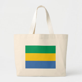 Low Cost! Gabon Flag Large Tote Bag