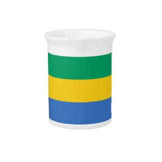 Low Cost! Gabon Flag Pitcher