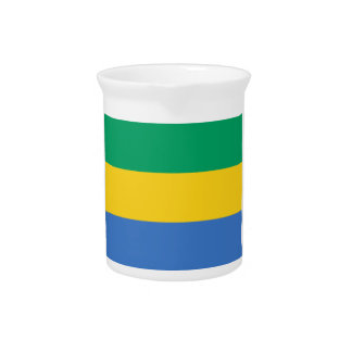 Low Cost! Gabon Flag Pitchers