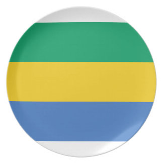 Low Cost! Gabon Flag Plates