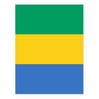 Low Cost! Gabon Flag Postcard