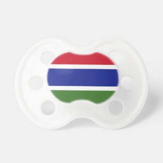 Low Cost! Gambia Flag Baby Pacifiers