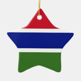 Low Cost! Gambia Flag Ceramic Ornament