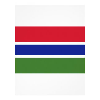 Low Cost! Gambia Flag Customized Letterhead