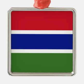 Low Cost! Gambia Flag Metal Ornament