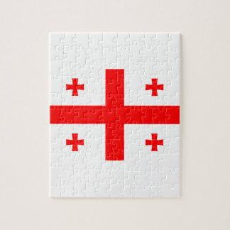 Low Cost! Georgia Flag Jigsaw Puzzle