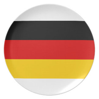 Low Cost! German Flag Plate