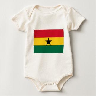 Low Cost! Ghana Flag Baby Bodysuit