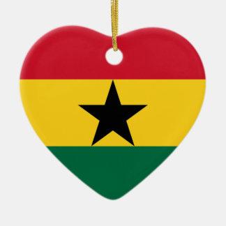 Low Cost! Ghana Flag Ceramic Ornament
