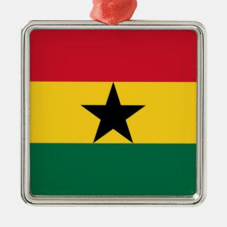Low Cost! Ghana Flag Metal Ornament