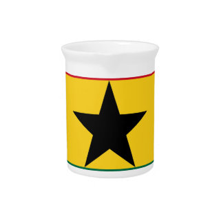 Low Cost! Ghana Flag Pitcher