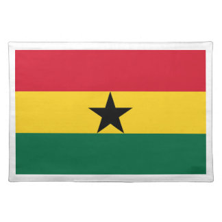 Low Cost! Ghana Flag Placemat