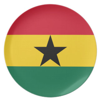 Low Cost! Ghana Flag Plate