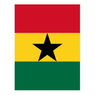 Low Cost! Ghana Flag Postcard