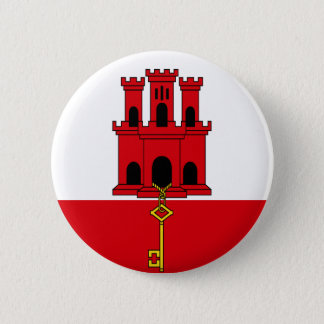 Low Cost! Gibraltar Flag 2 Inch Round Button
