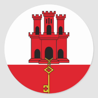 Low Cost! Gibraltar Flag Classic Round Sticker