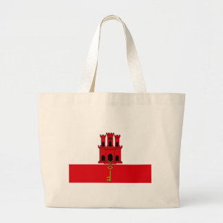 Low Cost! Gibraltar Flag Large Tote Bag