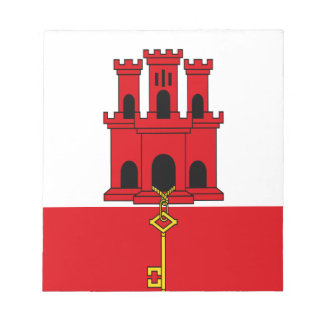 Low Cost! Gibraltar Flag Notepad