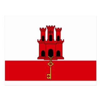 Low Cost! Gibraltar Flag Postcard