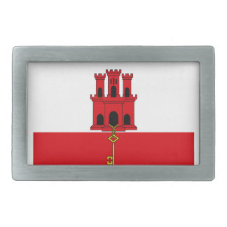 Low Cost! Gibraltar Flag Rectangular Belt Buckles