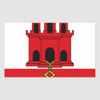 Low Cost! Gibraltar Flag Sticker