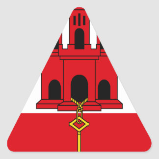 Low Cost! Gibraltar Flag Triangle Sticker
