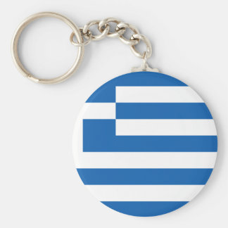 Low Cost! Greece Flag Basic Round Button Keychain