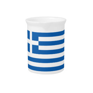 Low Cost! Greece Flag Pitcher