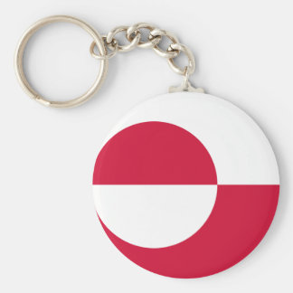 Low Cost! Greenland Flag Basic Round Button Keychain