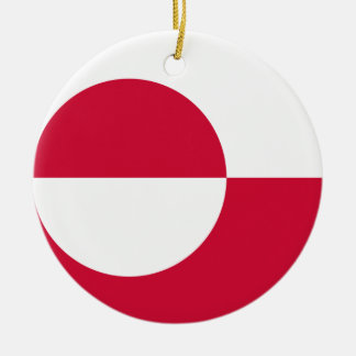 Low Cost! Greenland Flag Ceramic Ornament