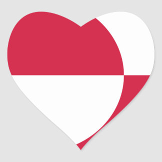 Low Cost! Greenland Flag Heart Sticker