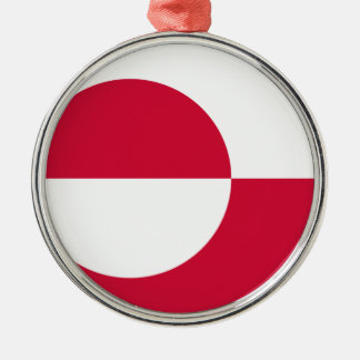 Low Cost! Greenland Flag Metal Ornament