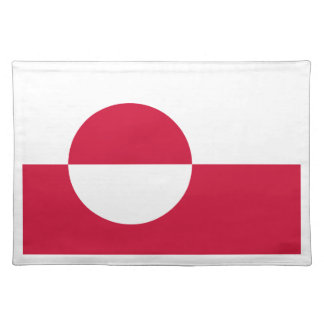 Low Cost! Greenland Flag Placemat