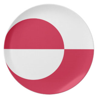 Low Cost! Greenland Flag Plate