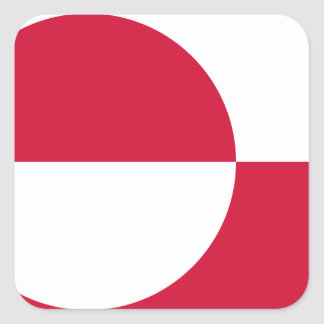 Low Cost! Greenland Flag Square Sticker