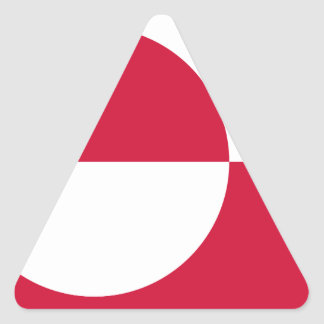 Low Cost! Greenland Flag Triangle Sticker