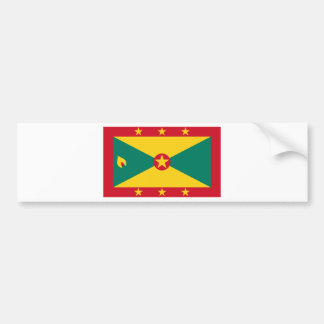 Low Cost! Grenada Flag Bumper Sticker