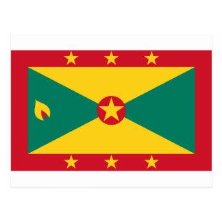 Low Cost! Grenada Flag Postcard