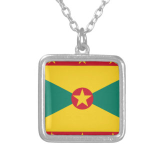 Low Cost! Grenada Flag Silver Plated Necklace