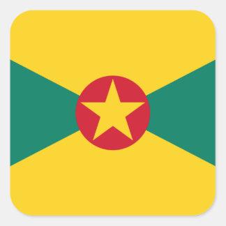 Low Cost! Grenada Flag Square Sticker