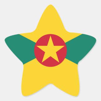 Low Cost! Grenada Flag Star Sticker