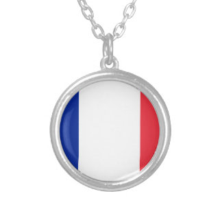Low Cost! Guadeloupe Flag Silver Plated Necklace