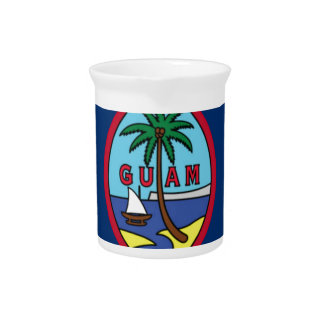 Low Cost! Guam Flag Beverage Pitcher