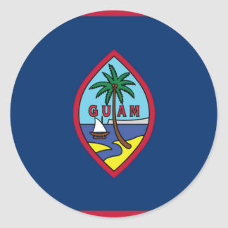 Low Cost! Guam Flag Classic Round Sticker