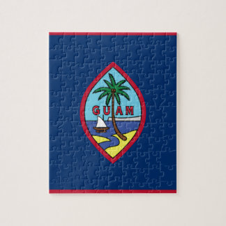 Low Cost! Guam Flag Jigsaw Puzzle