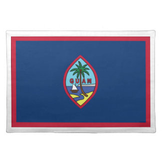 Low Cost! Guam Flag Placemats