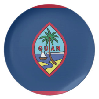 Low Cost! Guam Flag Plate