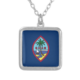 Low Cost! Guam Flag Silver Plated Necklace