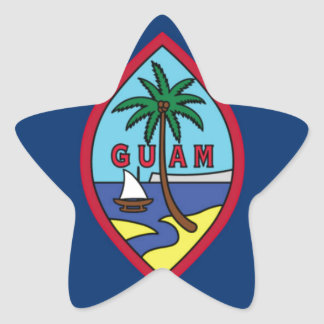 Low Cost! Guam Flag Star Sticker