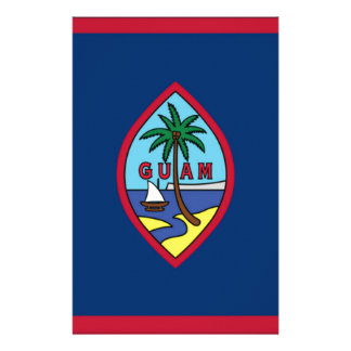 Low Cost! Guam Flag Stationery